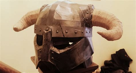 How To Make Iron Helmet With Paper - dovakiin iron helmet 1