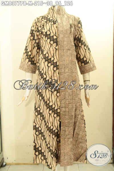 model baju batik gamis motif kombinasi  mewah