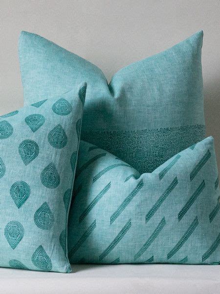 Jade Pillows by Jade Chambray Pillow Pattern Mix Susan Connor New York