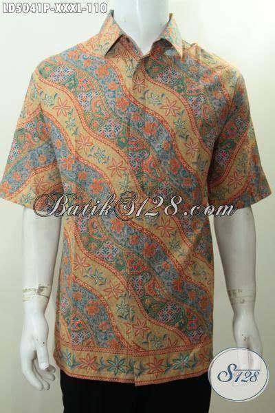 Hem Batik Bunga Uring Batik Warna Modern 4 hem batik printing ukuran 4l baju batik klasik motif