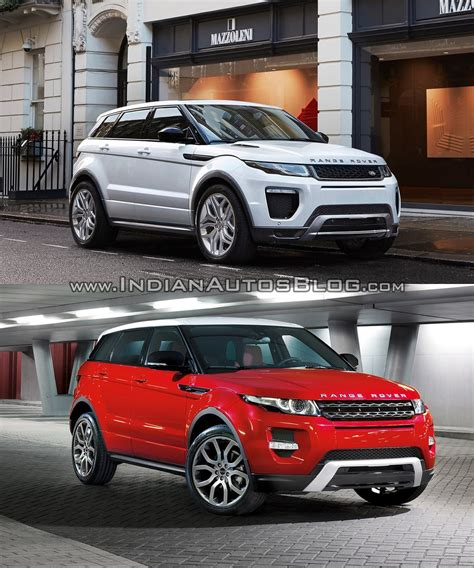 lifted land rover 2016 2016 range rover evoque facelift vs 2015 evoque old vs new