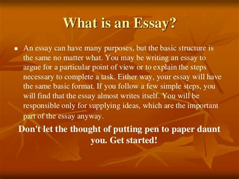 What Is A Essay by Basic Guide To Writing An Essay 1