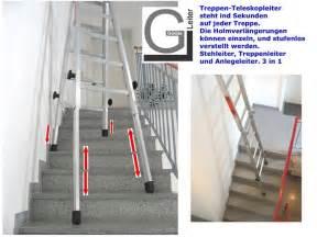 leiter auf treppe stellen leiter fr treppen teleskopleiter treppenleiter