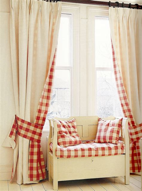 Red Plaid Curtains Curtains Blinds