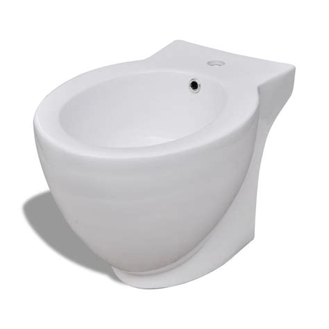 vidaxl co uk stand toilet bidet set white ceramic - Bidet Set