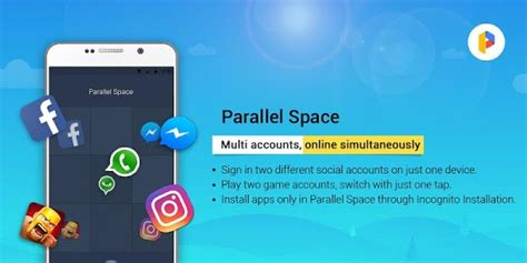 parallel space accounts two 4 0