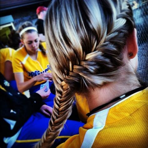 Softball Hairstyles by As Softball Players We Like To Experiment Different