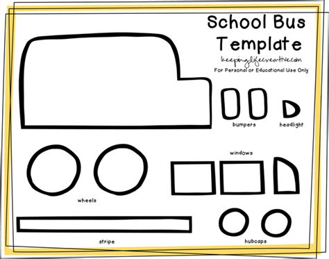 School Board Template Free Printable School Craft Template Flannel Boards