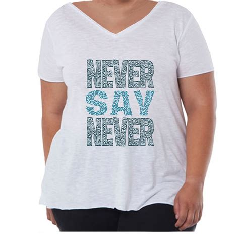 t shirt z nadrukiem never say never rozm 44 52 t