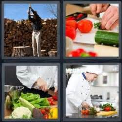 vegetables 4 pics one word 4 pics 1 word answer for wood vegetables cutting chef