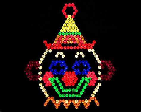 Nostalgia Home Decor lite brite the classic clown photograph by benjamin yeager