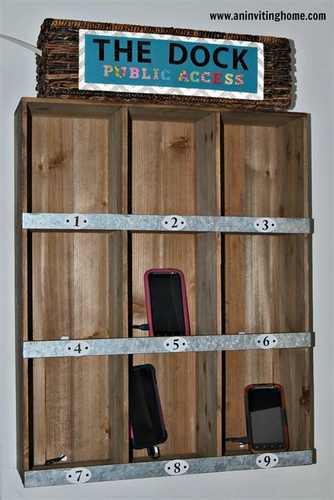 diy phone charging station remodelaholic get rid of cord clutter with these 25 diy