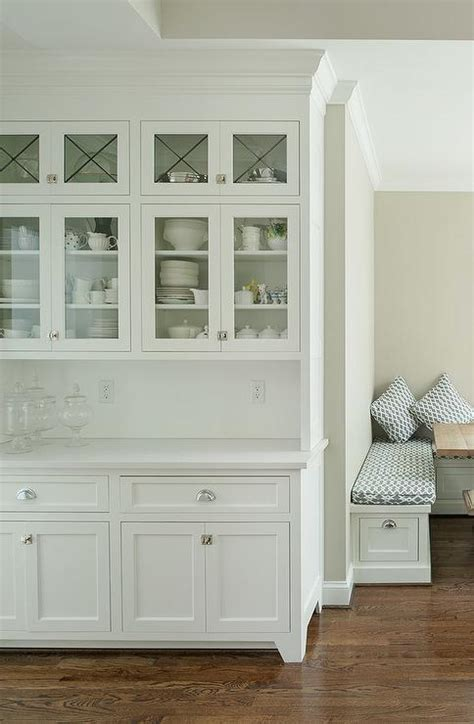Built In Kitchen Cabinet Design Built In Kitchen Hutch With Glass Doors Transitional Kitchen In