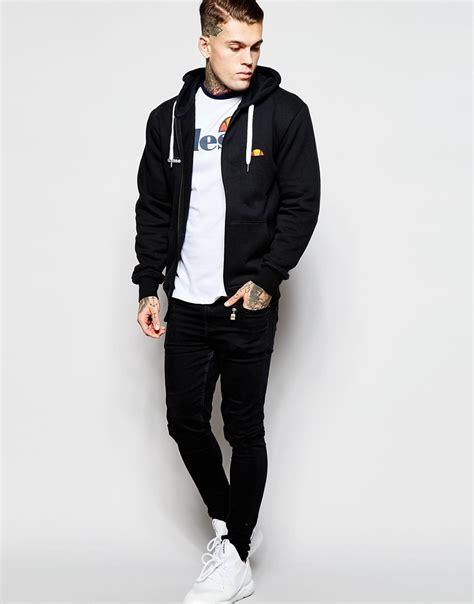Sweaterhoodiezipper The Nexus 2 King Clothing lyst ellesse zip up hoodie in black for