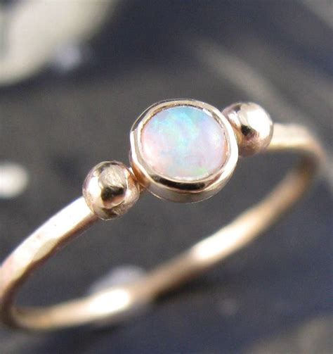 simple gold opal ring want