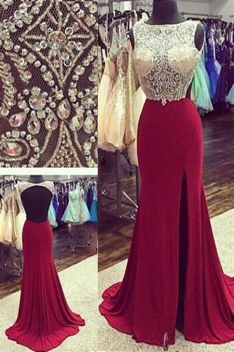 $189.99 Long A Line Straps Chiffon Burgundy Prom Dresses 2017