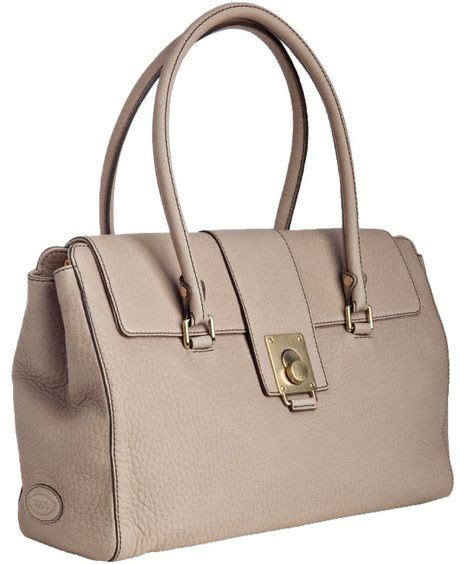 clay bag brown tod s light clay leather fleur media shoulder bag in brown