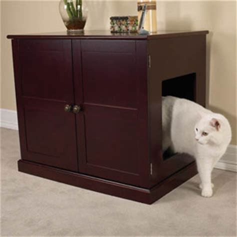 keeping litter box in bedroom enclosed dog bed wood cabinet