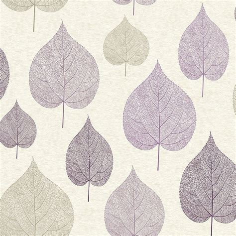 mercutio wallpaper plum grey crown signature leaf wallpaper plum m1068 wallpaper