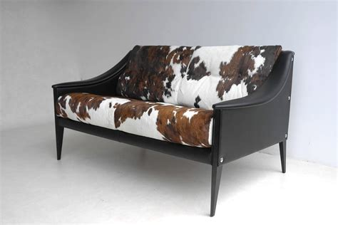 cowhide sofas gio ponti quot dezza quot cowhide sofa by poltrona frau at 1stdibs