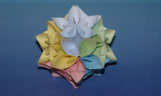 How To Make Kusudama Paper Flowers - origami flower kusudama www imgkid the image kid