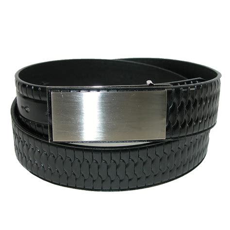 mens italian leather embossed belt by landes dress belts