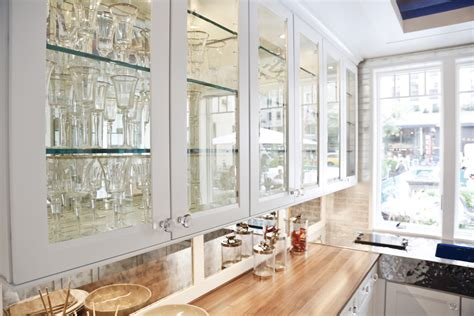 Kitchen Cabinet With Glass Glass For Kitchen Cabinet Doors Added With Neutral Nuance Mykitcheninterior