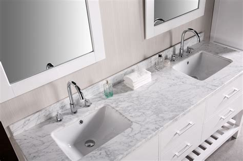 double bathroom sink countertop bathroom vanities with tops choosing the right countertop