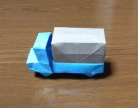 How To Make Paper Car - how to make a origami truck car