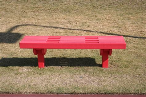 sports bench recycled plastic lumber sport bench green play parks