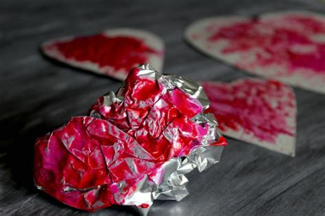 valentines day crafts for toddlers foil valentines day activity for toddlers crafts on sea