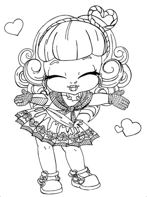 monster high coloring pages   cool funny