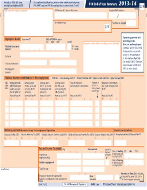 hmrc p14 fill printable fillable blank pdffiller