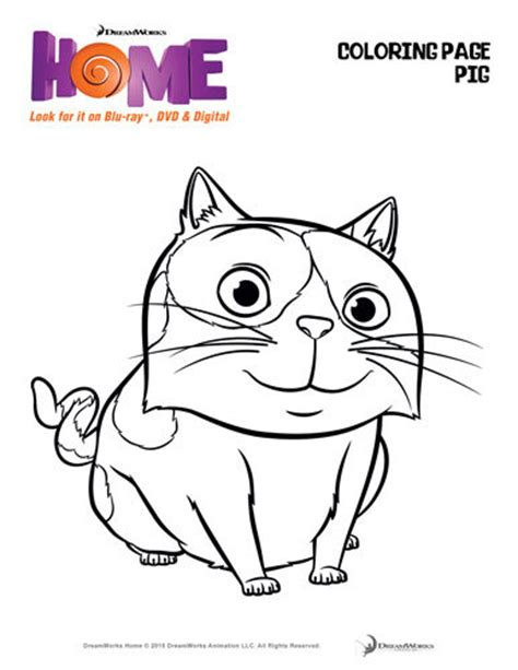 Dreamworks Home Activity Sheets Dreamworks Coloring Pages