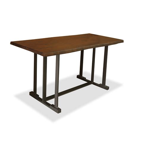 bar height table live edge counter or bar height table