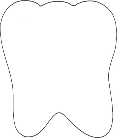 template of a tooth tooth template craft ideas