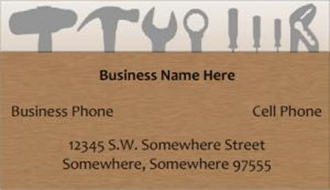 handyman business card sles lovetoknow