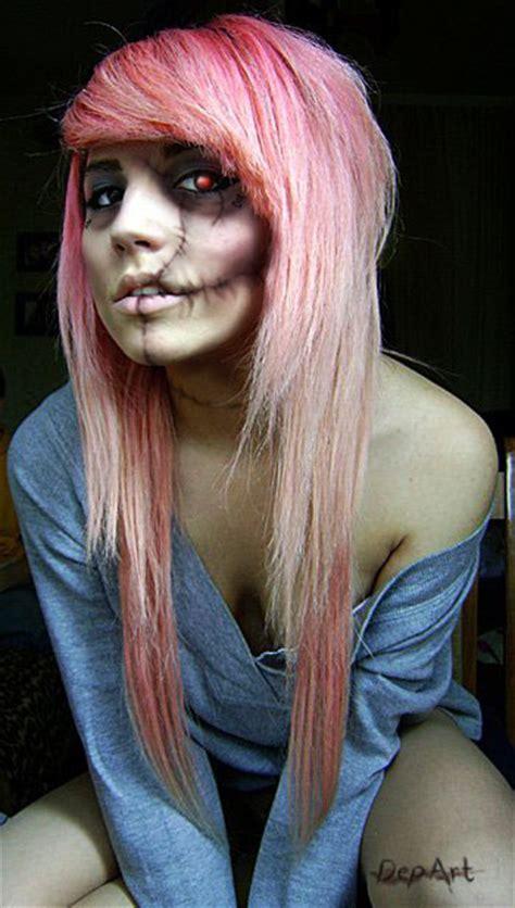cute girl hairstyles zombie halloween makeup ideas zombie girl execid com