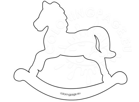 coloring pages of rocking horses printable rocking template coloring page
