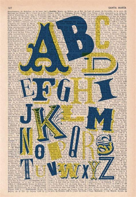 typography collage abc typography alphabet book print typography collage printed on vi