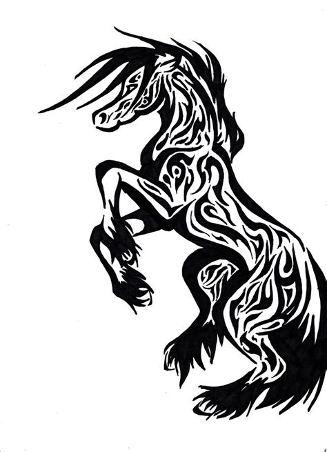 tribal horse tattoo tattoos designs ideas and meaning tattoos for you