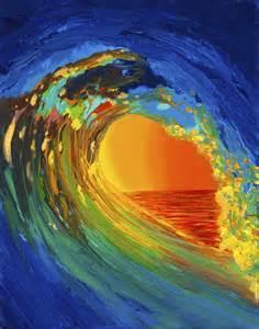 Hawaiian Wall Murals wave painting aw 26 thomas deir honolulu hi artist