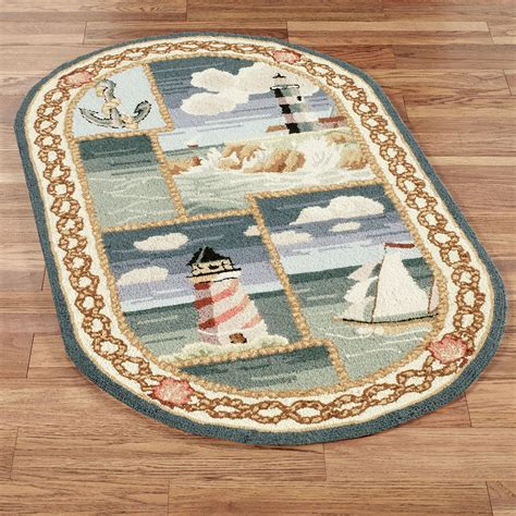 touch of class rugs coastal views oval rug blue touch of class