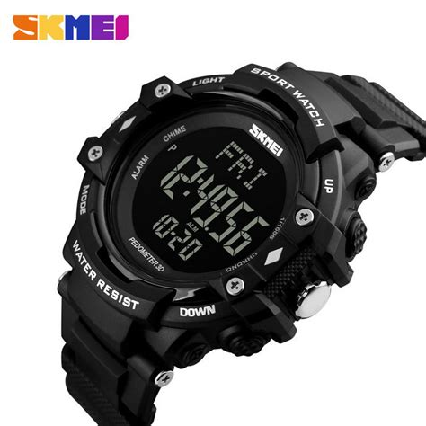 Skmei Sportwatch Pedometer Rate Jam Tangan Olah Raga skmei jam tangan olahraga pedometer rate dg1180s black jakartanotebook