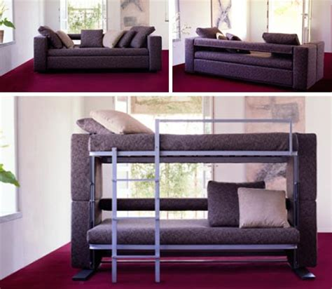 couch that folds into a bunk bed convertible furniture cool couch desk bed designs