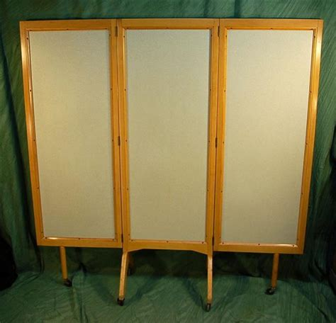Rolling Room Divider Mid Century Modern Rolling Folding Screen Room Divider From Colinreedantiques On Ruby