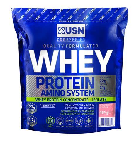 usn amino whey protein makro