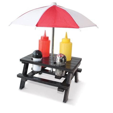 set umbrella picnic condiment set with umbrella