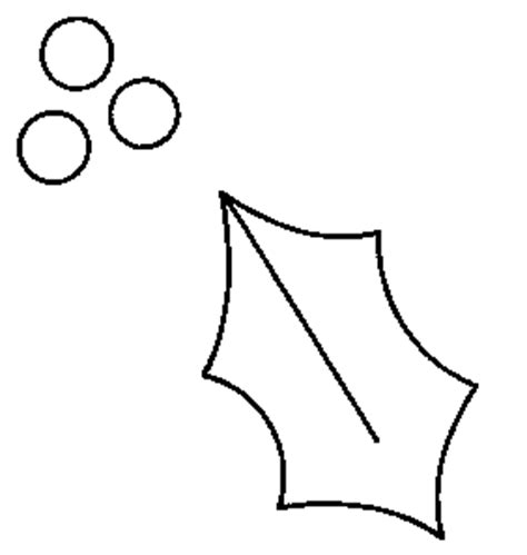 search results for holly leaf template to color