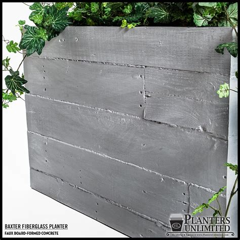 faux concrete planters faux board formed concrete planters planters unlimited